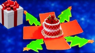 DIY 3D Christmas pop up card/how to make Christmas greeting card/New year card