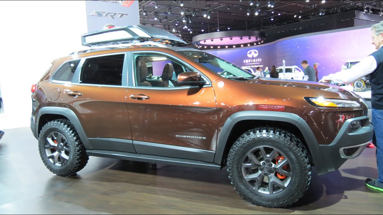 Mopar Lift Kit >> 2015 Jeep Cherokee Mopar Custom At The 2014 NAIAS Auto Show - YouTube