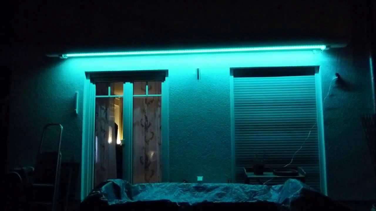led streifen als beleuchtung f r markise und terrasse im eigenbau youtube. Black Bedroom Furniture Sets. Home Design Ideas