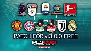 UPDATE PES 2019 MOBILE BEST PATCH FOR v.3.0.0 FREE ANDROID