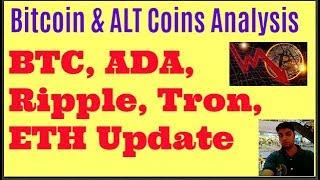 Bitcoin & ALTCoins Update: BTC Bottom Price XRP, TRX, ADA & ETH Analysis