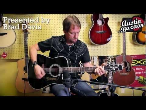 Takamine EF341SC Black Cutaway Acoustic-Electric Guitar - Brad Davis