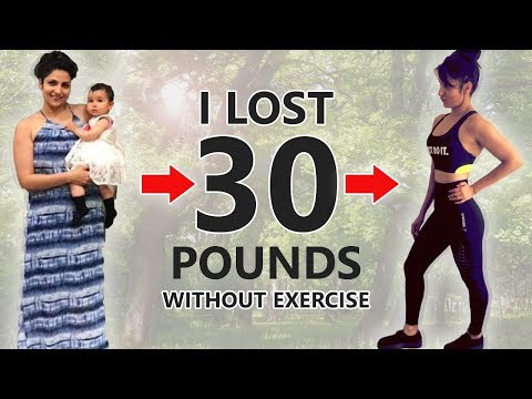 HOW I LOST 30 Pounds of STUBBORN FAT | Weight Loss After Pregnancy | NO EXERCISE