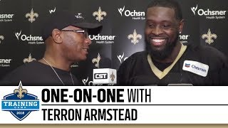 One-on-One with Terron Armstead   2018 Saints Training Camp