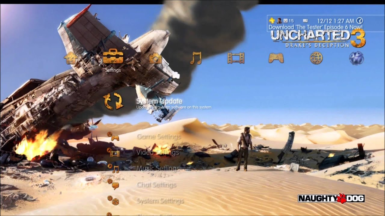Uncharted 3 drakes deception dynamic theme hd youtube voltagebd Image collections