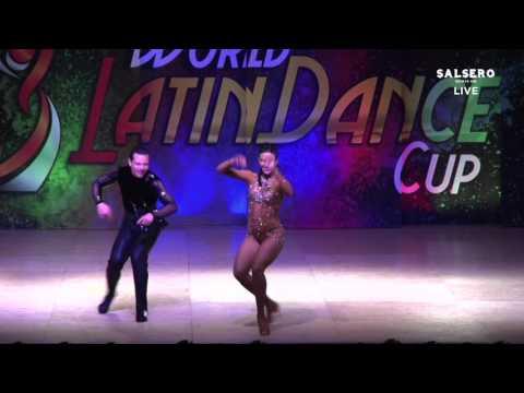 Simone Sanfilipo & Serena, Italy, Salsa On 2 Couple Pro Champions, Final Round, WLDC 2015