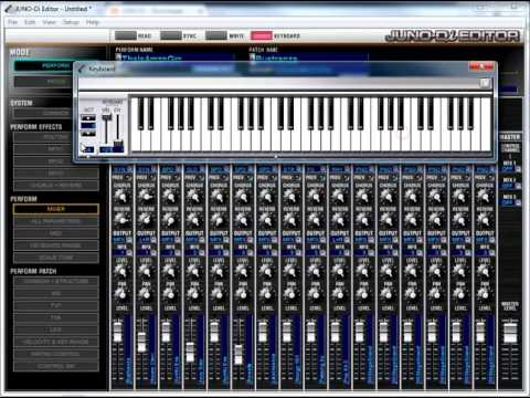 Roland Juno-di Editor Software Tutorial 1: Introduction