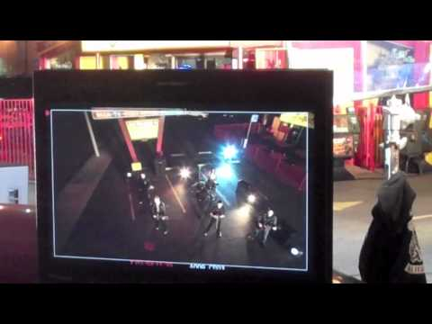 """Behind the scenes of the """"Hang You Up"""" video shoot."""