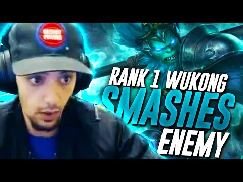 RANK 1 WUKONG SMASHES ENEMY TEAM IN RANKED - League of Legends