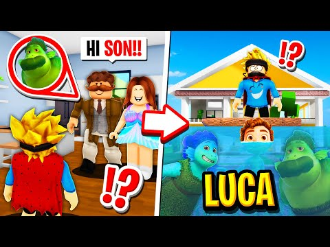 My Family Were SECRET LUCA FAMILY in Roblox BROOKHAVEN RP!!
