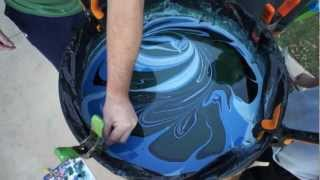 Swirl Painting a Jackson Guitar with Borax Method and Humbrols PART 2