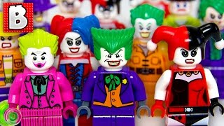 Every Lego Joker & Harley Quinn Minifigure Ever Made!!! Rare Dark Knight Joker Minifig | Collection