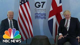 Biden Meets Johnson, Announces U.S. Will donate Covid Vaccine Doses