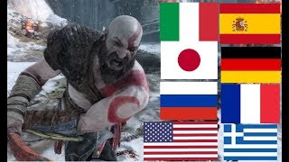 God Of War (2018)-Voice Comparison: Kratos and Atreus' Voice in Different Languages
