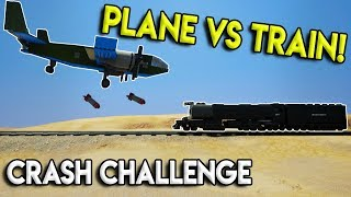 LEGO TRAINS VS PLANES CRASH CHALLENGE! - Brick Rigs Multiplayer Gameplay Challenge