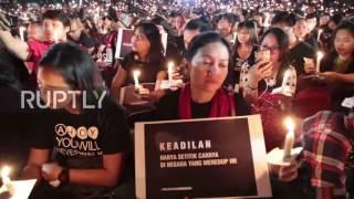 Video Indonesia: Thousands join vigil for Ahok in Jakarta after governor jailed for blasphemy download MP3, 3GP, MP4, WEBM, AVI, FLV Oktober 2017