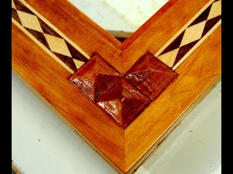 Woodworking How To Inlay Wood Pyramids Youtube