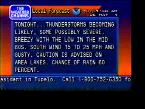 Weather Channel Promo and Local Forecast 1999 - YouTube