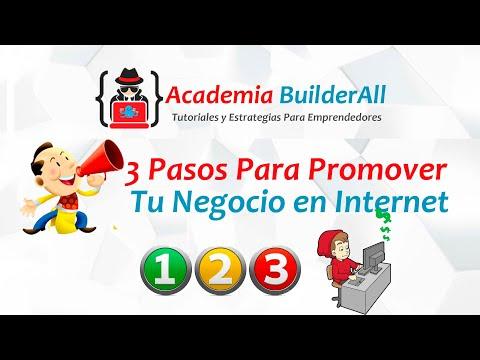 3 simples pasos para promover tu negocio en internet | Builderall