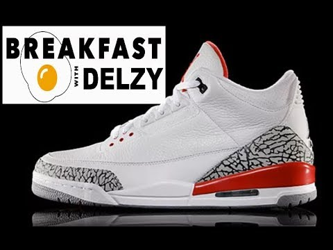 sale retailer 68cfe 84b62 Drake's New 11's,Air Jordan 3 Katrina,2018 Jordan Releases - BREAKFAST WITH  DELZY EPISODE 3