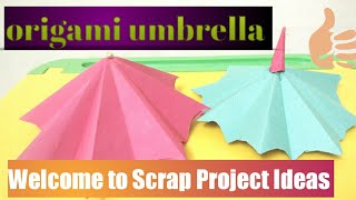 Origami umbrella in two minutes/papercrafts/ paper umbrella