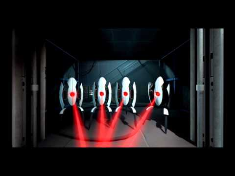 Portal 2: The ending scene HD (with song and lyrics)