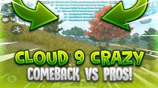 C9 CRAZY COMEBACK VS PRO TEAMS ( Rules Of Survival PRO vs PRO Teams ) ROS Mobile