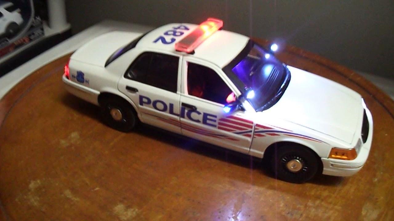 Washington dc metropolitan police 1 18 scale lights and siren ford crown victoria