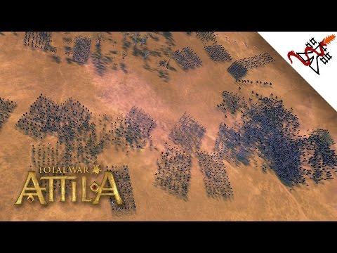 Total War: Attila - 2500 Romans vs 15000 Barbarians | MASSIVE Battles |