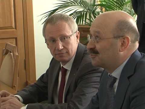 Встреча Е. Савченко с президентом «ВТБ 24»