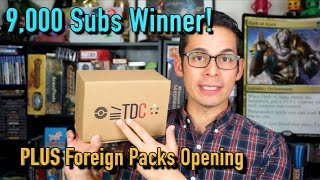 Magic The Gathering - 9,000 Subs Giveaway Winner PLUS Foreign Pack Opening!