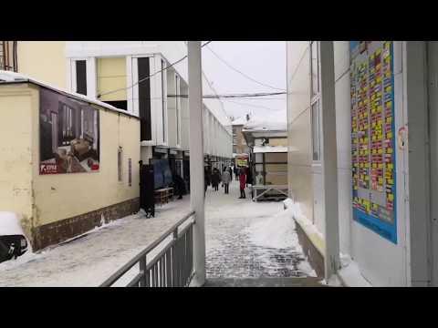Эвакуация рынка и ТЦ в Новомосковске Тульской области 30 января 2019 г.