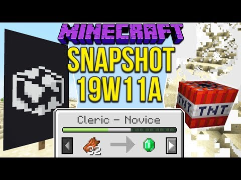 Minecraft 1.14 Snapshot 19w11a New Villager Trading, Globe Banner & TNT Changes!