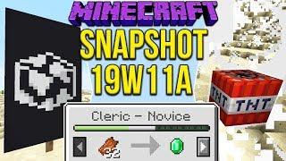 Minecraft 1.14 Snapshot 19w11a New Villager Trading, Globe Banner & TNT Changes!