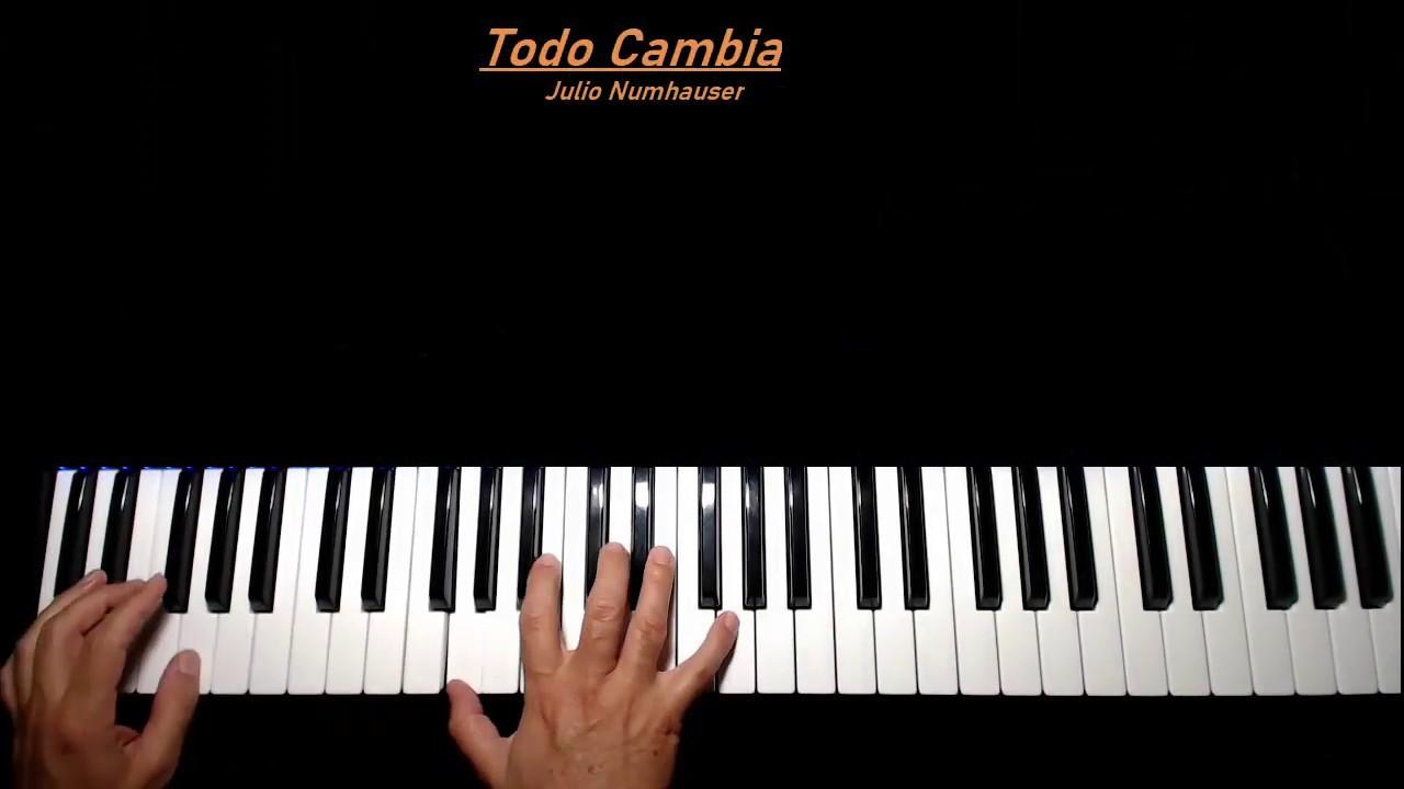Mercedes Sosa. Todo Cambia. Tutorial Piano - YouTube