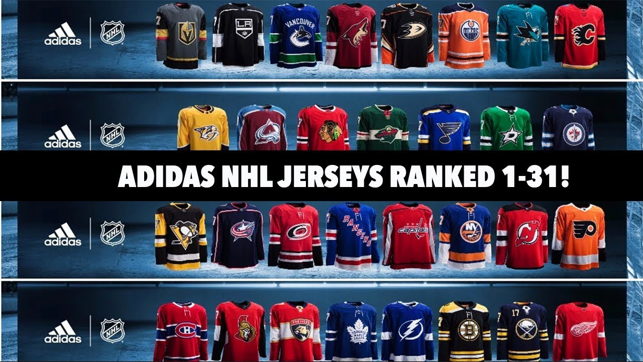 NHL Adidas Jerseys Ranked 1-31! - YouTube 385650cbc