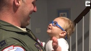 Military Dad Breaks Down in Tears When Son Sees Him For First Time