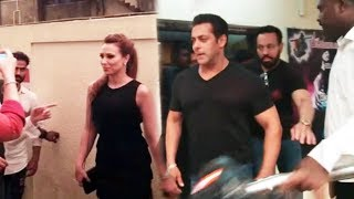 Salman Khan's Girlfriend Iulia Vantur Exit RACE 3 Music Launch Event | Allah Duhai Song Launch
