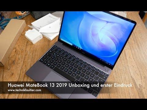 Huawei MateBook 13 2019 Unboxing und erster Eindruck