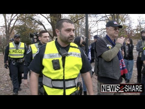 Antifa Face off with Confederates at UNC Chapel Hill