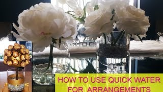 How To Use Quick Water In Your Arrangements