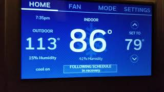 How To Turn Off The Recovery Mode On Honeywell Smart Thermostat Youtube