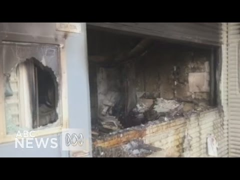 Footage shows destruction of Christmas Island detention centre after riot - YouTube