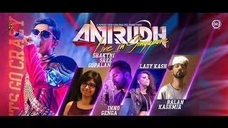 Cover images 17 Un vizhigalil Katthi  Anirudh Live In Singapore 2017