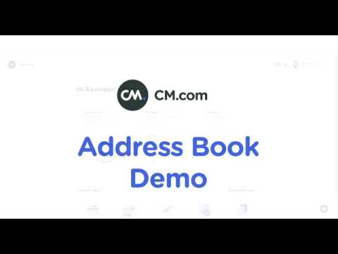 """Address Book - How to get started CM com"""