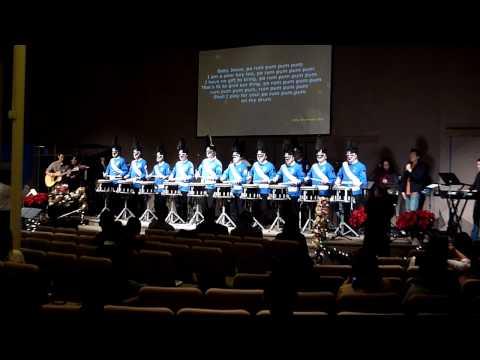 Little Drummer Boy - Snare Drumline 1st Performance