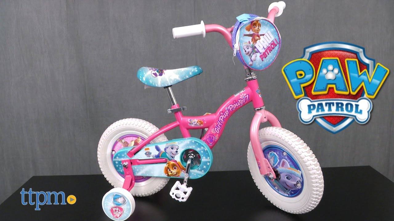 Girls 12 Inch Paw Patrol Skye Bike From Pacific Cycle