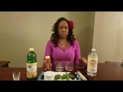 Blackberry Lemon Gin And Tonic