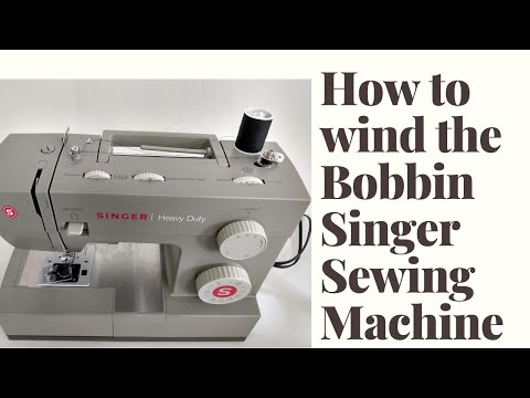 How to wind the bobbin on the Singer Heavy Duty Sewing Machine