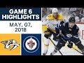 NHL Highlights | Predators vs. Jets, Game 6 - May 07, 2018